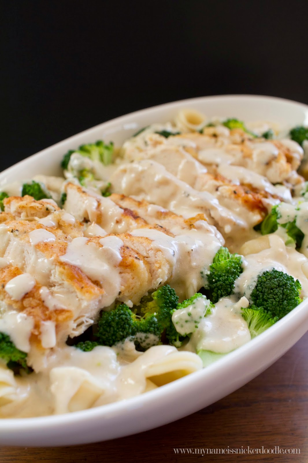 Creamy Garlic Chicken And Broccoli Pasta My Name Is Snickerdoodle