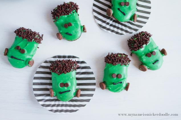 Frankenstein Cookies perfect for Halloween