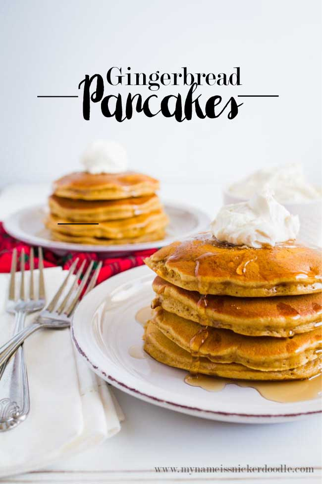Gingerbread Pancakes With Whipped Cream