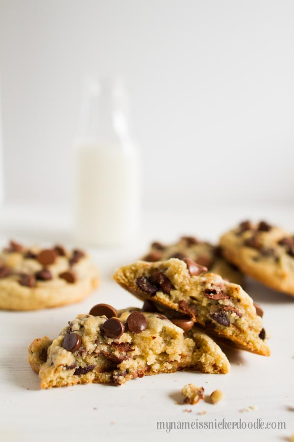 Best Recipe For Big and Chewy Chocolate Chip Cookies with milk
