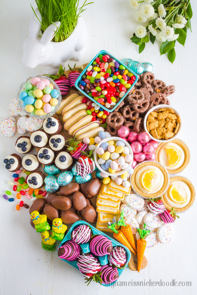 Easter Dessert Candy Board a perfect dessert buffet for the holiday!