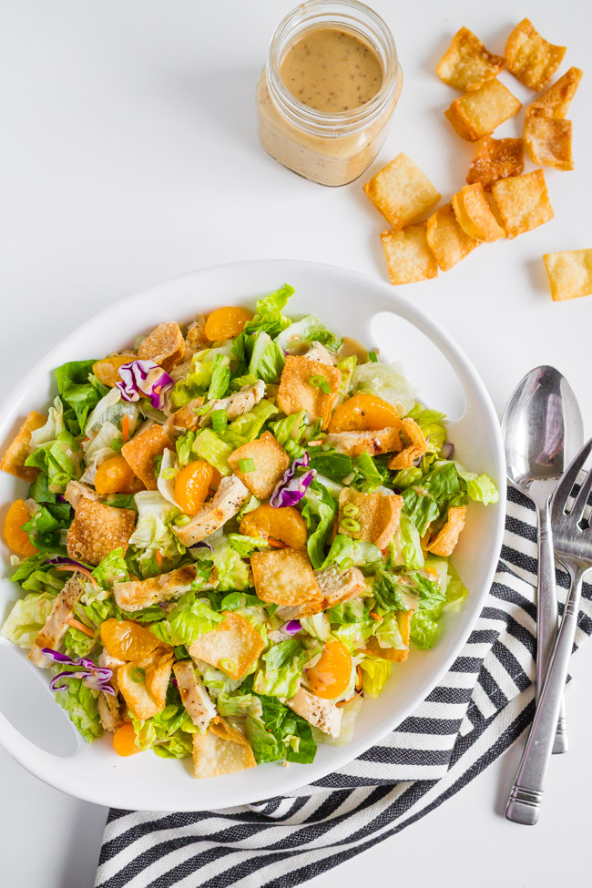 Chinese Chicken Salad Recipe  |  Easy  |  Best  |  Dressing  |  Lunch  |  Creamy  |  With Cabbage  mynameissnickerdoodle.com