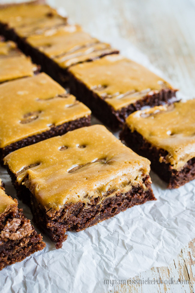 Caramel Brownies Made From Scratch