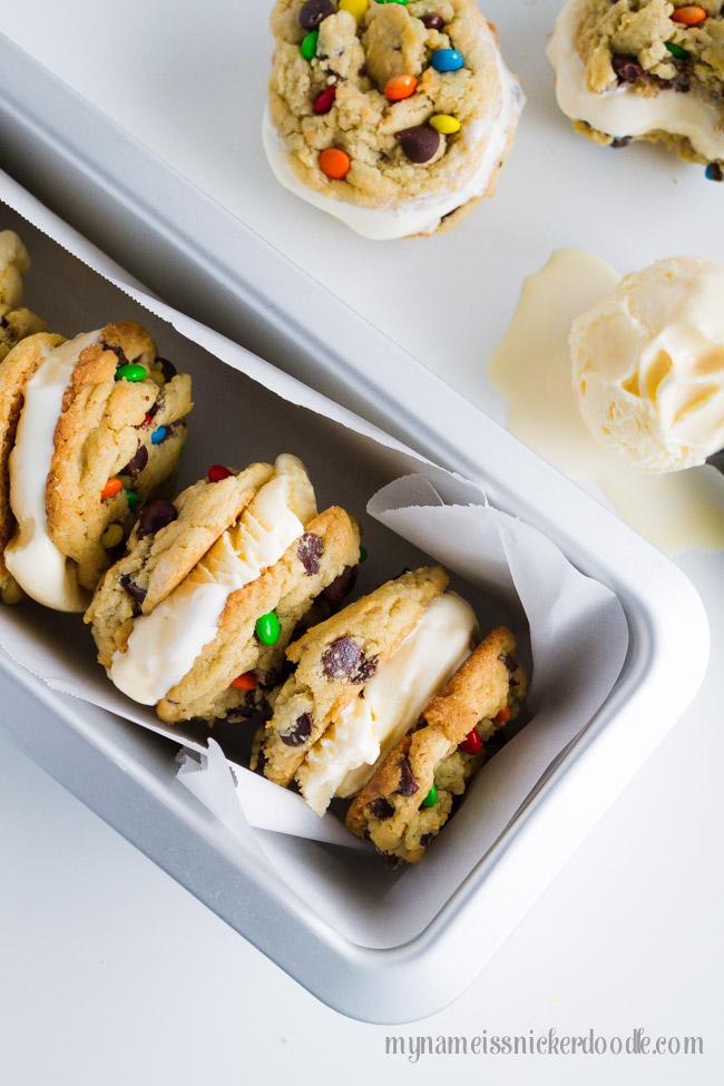 Chocolate Chip Ice Cream Sandwich Cookies Recipe