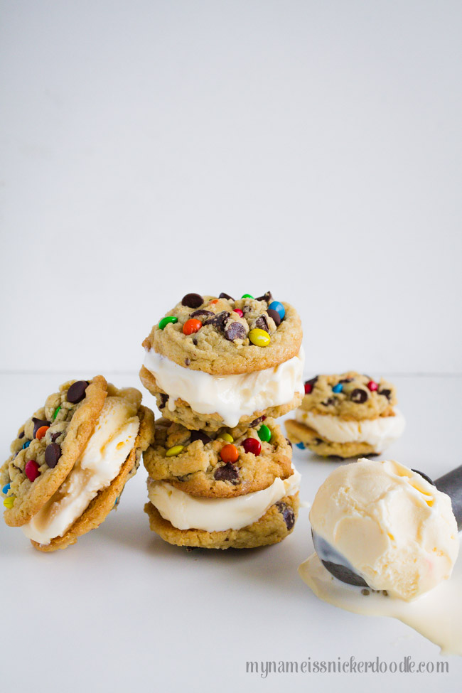 Chocolate Chip Ice Cream Sandwich Cookies Recipe