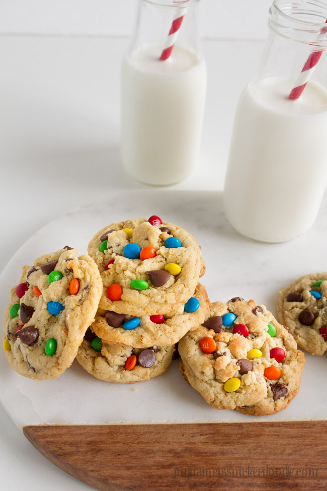 M&M Chocolate Chip Cookies | Recipe | From Scratch | Easy | Candy