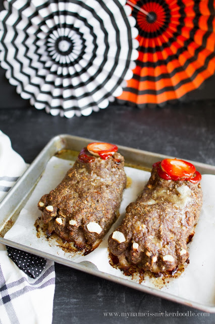 Halloween Meat Loaf Recipe Feet Loaf!!! Meat loaf that looks like zombie bloody feet. A fun and spooky holiday Halloween Dinner. Made from simple and easy ingredients and super gross and yummy!