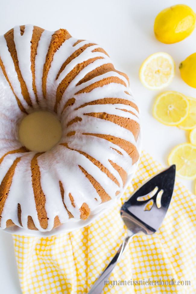 Lemon Bunt Cake With Drizzled Glaze