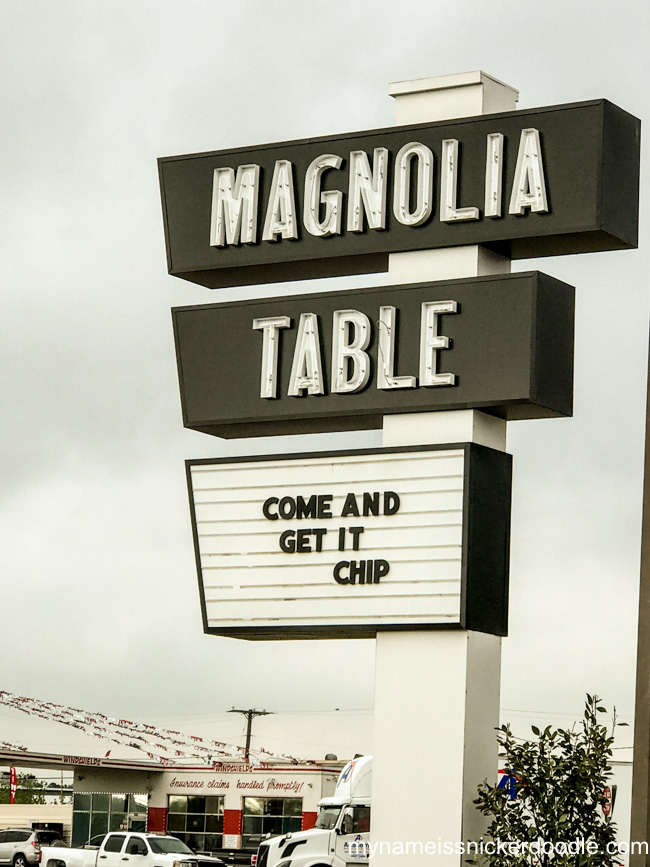 Magnolia Table Come and Get It Chip Gaines Marquee Sign