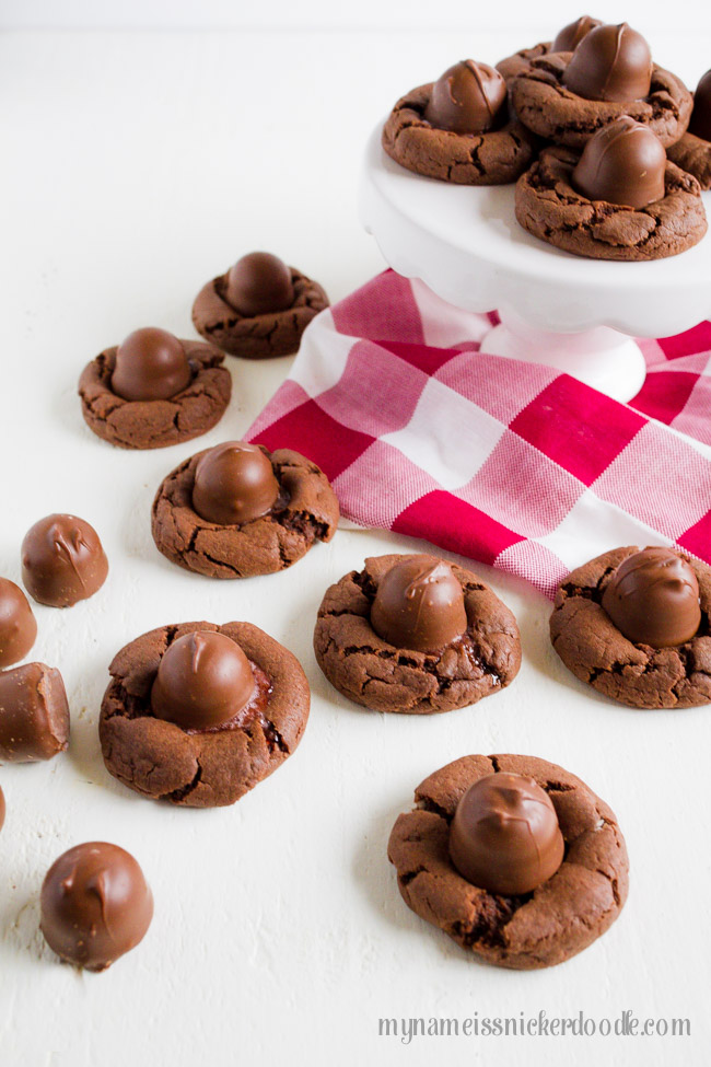 Cherry Cordial Chocolate Cookies made with a classic Christmas candy. A perfect treat.