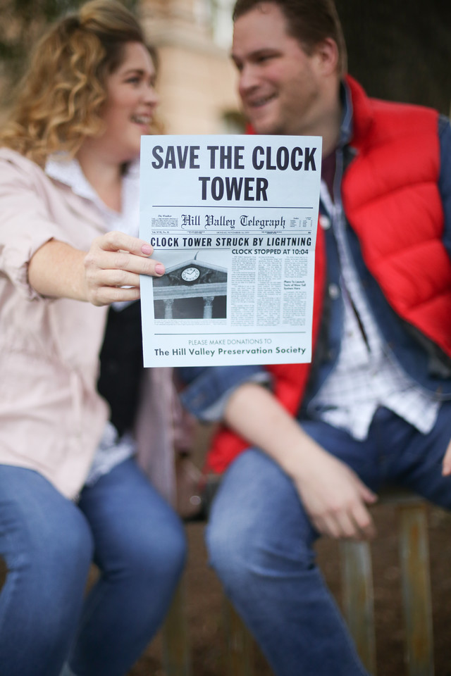 Back To The Future Marty And Jennifer Save The Clock Tower