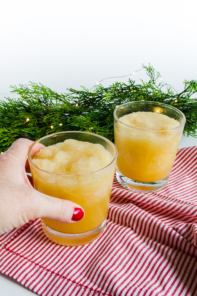 Fill cups full with slush and top with ginger ale. Christmas Punch is slushy, sweet and sparkly an easy holiday recipe.