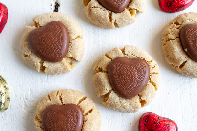 Peanut Butter Blossoms Valentine Version