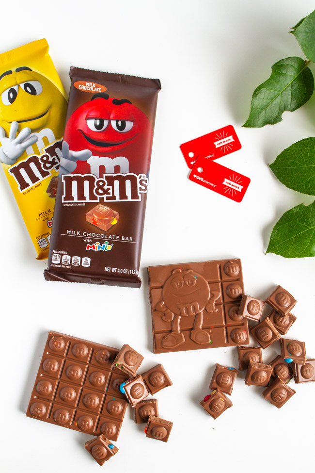 Chocolate candy bars with peanuts