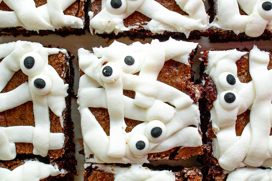 Halloween Mummy Brownie Treats