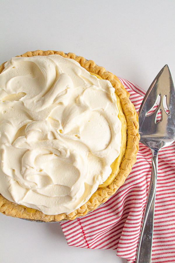 Eggnog Pie is the perfect no bake dessert for the holidays!
