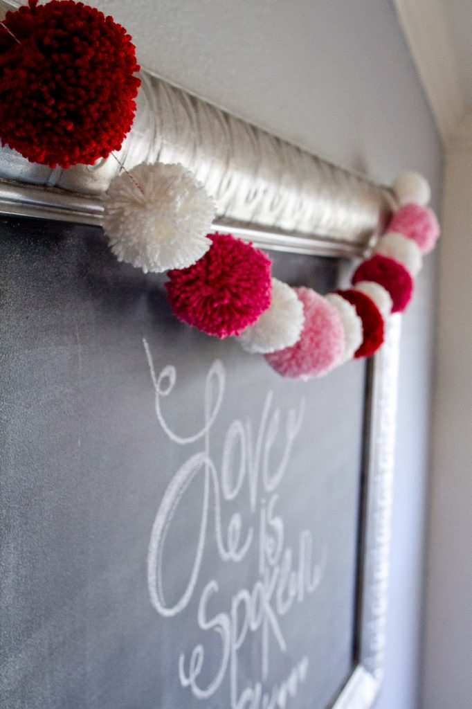 Valentine Yarn Pom Pom Garland My Name Is Snickerdoodle
