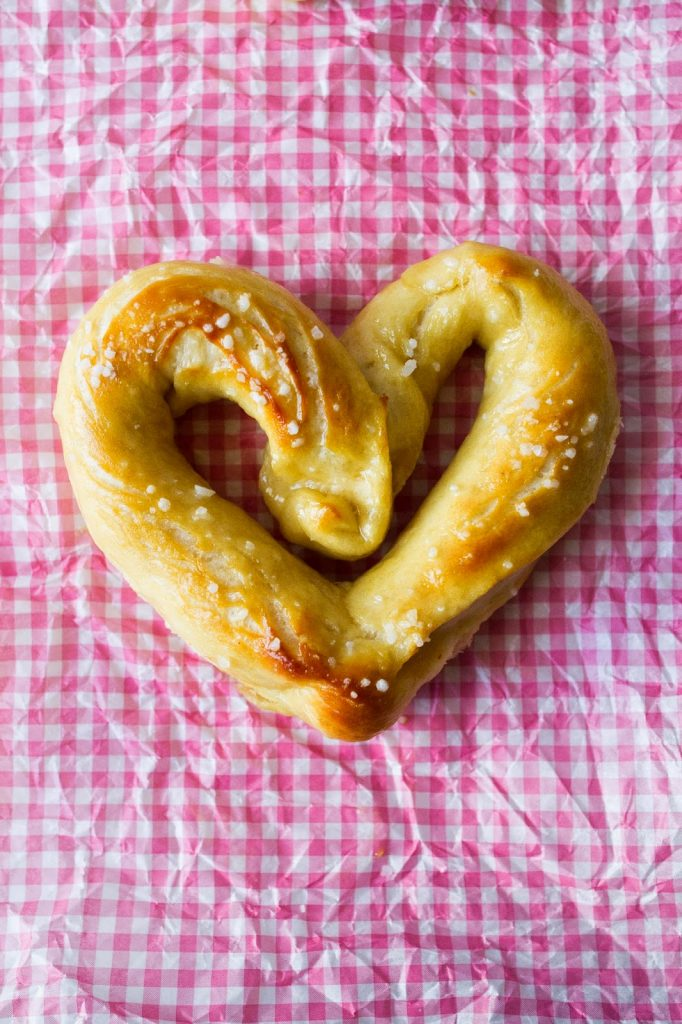 Such an easy recipe for Heart Shaped Pretzels