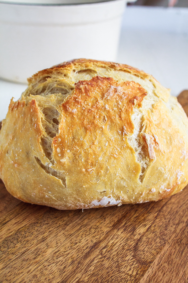 The easiest Artisan Bread recipe.  No kneading!