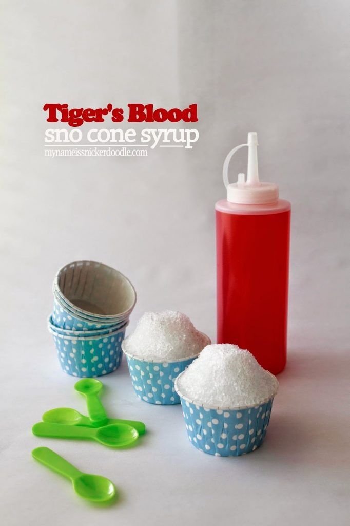 Tiger's Blood Sno Cone Syrup recipe.