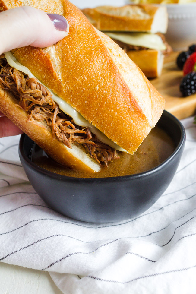 Easy French Dip Sandwiches made in the slow cooker.