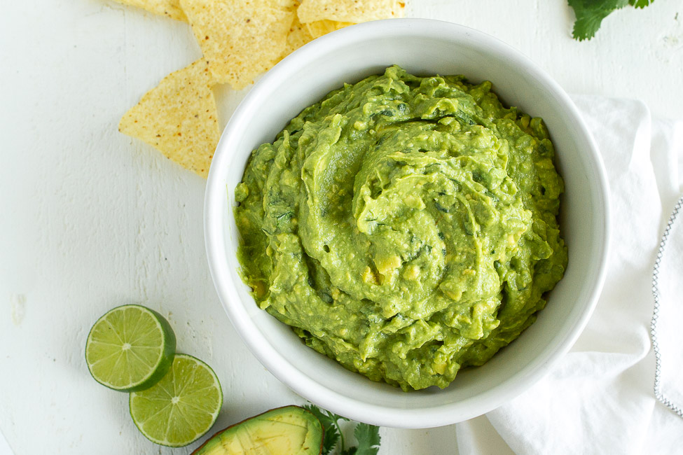Simple guacamole recipe.