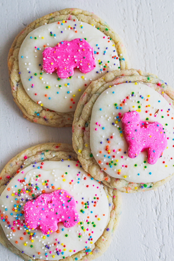 Sprinkle cookies that are topped with a childhood treat.