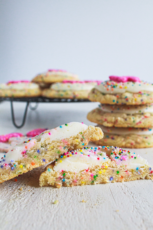 Circus Animal Cookies with sprinkles.