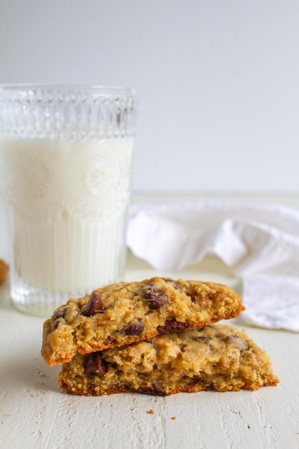 Cookies broken in half