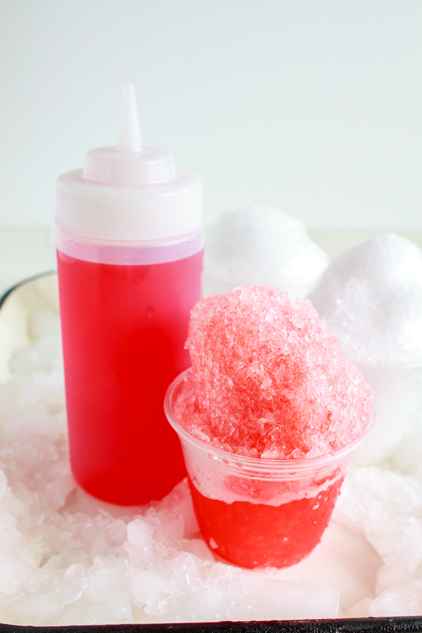 The most favorite snow cone flavor.  Made with strawberry, watermelon and coconut.