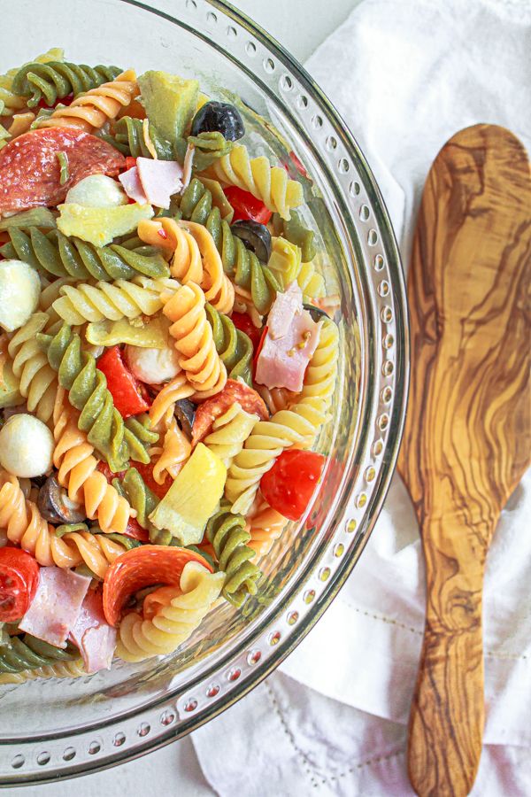 Italian Pasta Salad with artichokes