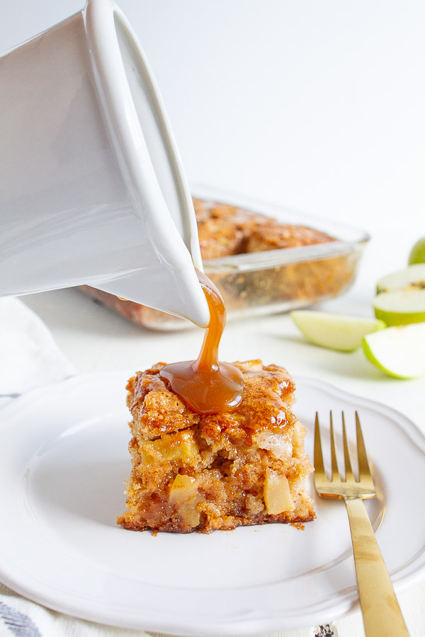 Apple Cake Drizzled with a Caramel Glaze