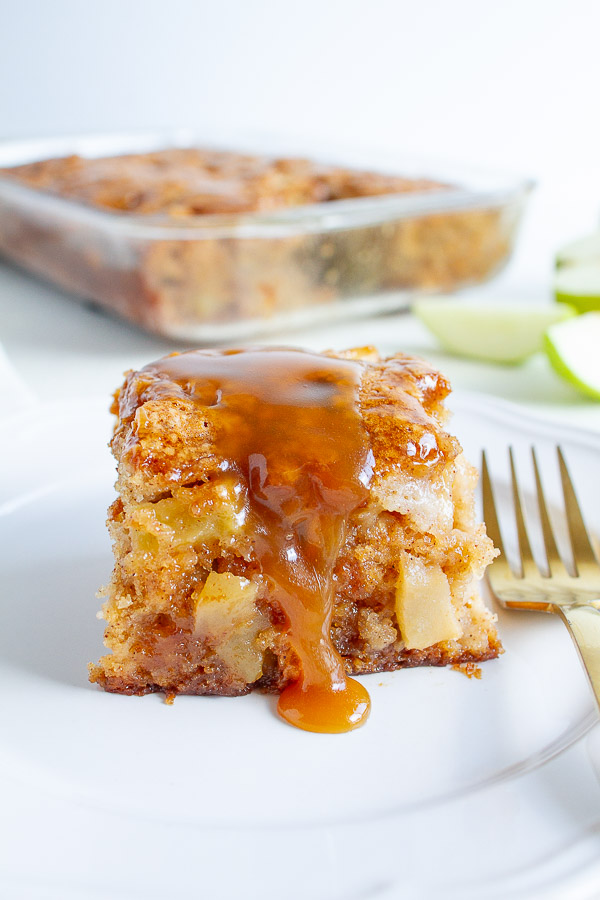 Apple Cake With A Caramel Glaze Recipe