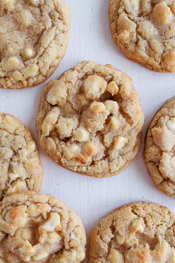 Macadamia Nut Cookies with white chocolate chips.