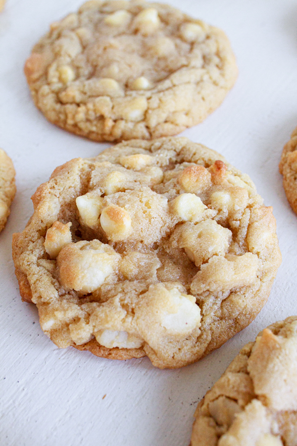 White Chocolate Chip Cookies with macadamia nuts.