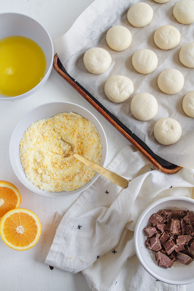 Ingredients for Chocolate Orange Pull-Apart Bread recipe