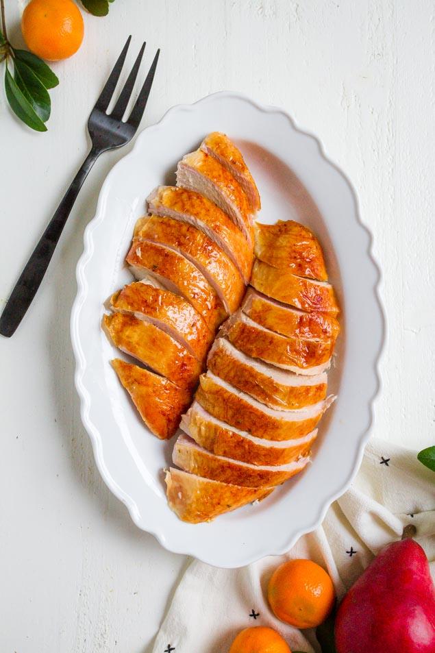 Juicy and tender turkey breast