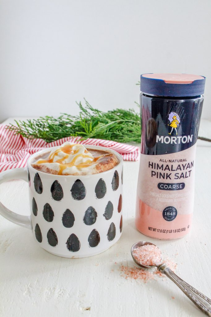 Salted Caramel Hot Chocolate with pink salt